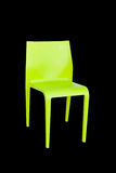 Green plastic chair isolated Royalty Free Stock Image