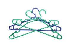 Green and plastic clothes hanger Royalty Free Stock Photos