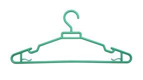 Green plastic clothes hanger Stock Photos