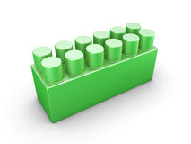 Green plastic construction element Stock Image