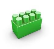 Green plastic construction element of the children designer Stock Photo