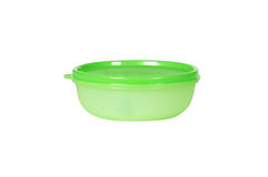 Green plastic container Royalty Free Stock Photography