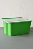 Green plastic container Royalty Free Stock Images
