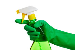 Green plastic dispenser Royalty Free Stock Photos