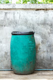Green plastic dust bin background. Royalty Free Stock Photography