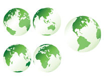 Green plastic earth Royalty Free Stock Images