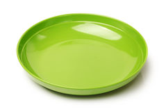 Green plastic empty bowl Royalty Free Stock Photo