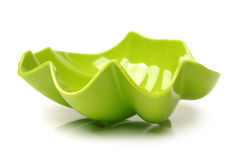 Green plastic empty bowl Stock Images