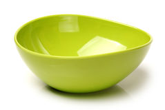 Green plastic empty bowl Royalty Free Stock Photography