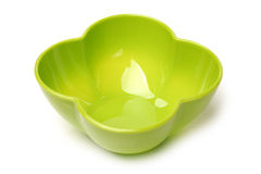 Green plastic empty bowl Royalty Free Stock Image