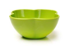 Green plastic empty bowl Stock Image