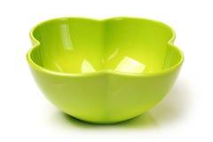 Green plastic empty bowl Royalty Free Stock Photos