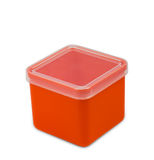 Green plastic empty box in white background Royalty Free Stock Image