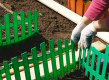 Green plastic fencing Stock Images