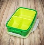 Green plastic food box, close up photo Stock Photography