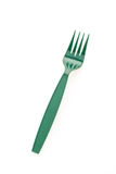 Green plastic forks Royalty Free Stock Image