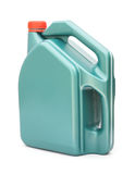 Green plastic gallon with red lid Royalty Free Stock Images