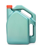 Green plastic gallon with red lid Royalty Free Stock Photo
