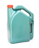 Green plastic gallon with red lid Stock Photos