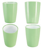 Green plastic glass for juice Royalty Free Stock Photo