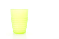 green plastic glass Stock Photo