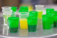 Green plastic glasses Royalty Free Stock Photo