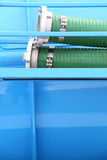 Green plastic hose tube outdoor Royalty Free Stock Image