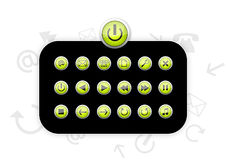 Green Plastic Icons - Vector Stock Image