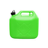 Green plastic jerrycan isolated on white Royalty Free Stock Photography