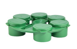 Green plastic joint boxes set with clipping path Stock Image