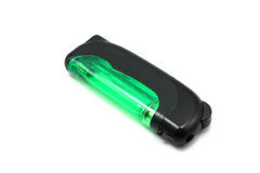 Green plastic lighter Royalty Free Stock Images