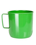 Green plastic mug Royalty Free Stock Photo