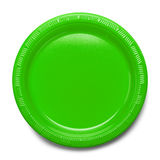 Green Plastic Plate Royalty Free Stock Photo