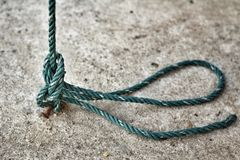 Green plastic rope Royalty Free Stock Image
