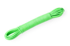 Green plastic rope isolated on white Stock Image