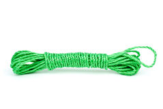 Green plastic rope reeling Royalty Free Stock Photo