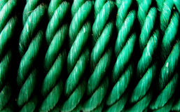 Green Plastic Rope Royalty Free Stock Images