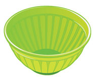 Green plastic salad bowl Stock Photo