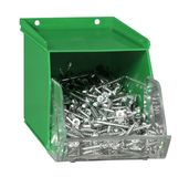 Green plastic screw box Stock Images