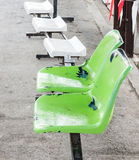 Green plastic seat Stock Images