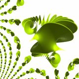 Green plastic spiral - wave polishes and reflecting Royalty Free Stock Photo