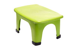 Green plastic stool Stock Images