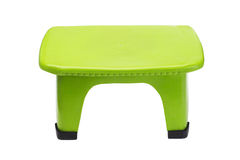 Green plastic stool Stock Photos