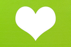 Green plastic texture in heart shape Stock Photography