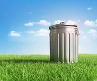 Green plastic trash Stock Image