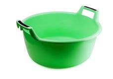 Green plastic washing bowl Royalty Free Stock Photo