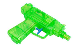 Green plastic water pistol Stock Image