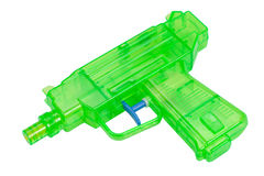 Green plastic water pistol Royalty Free Stock Photography