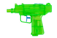 Green plastic water pistol Royalty Free Stock Images
