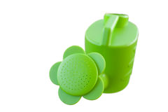 Green Plastic Watering Can Royalty Free Stock Photos